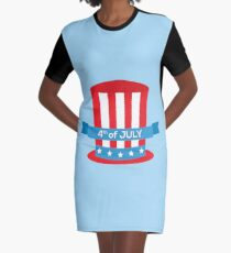 4th of July Graphic T-Shirt Dress