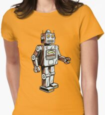 Retro Toy Robot Womens Fitted T-Shirt