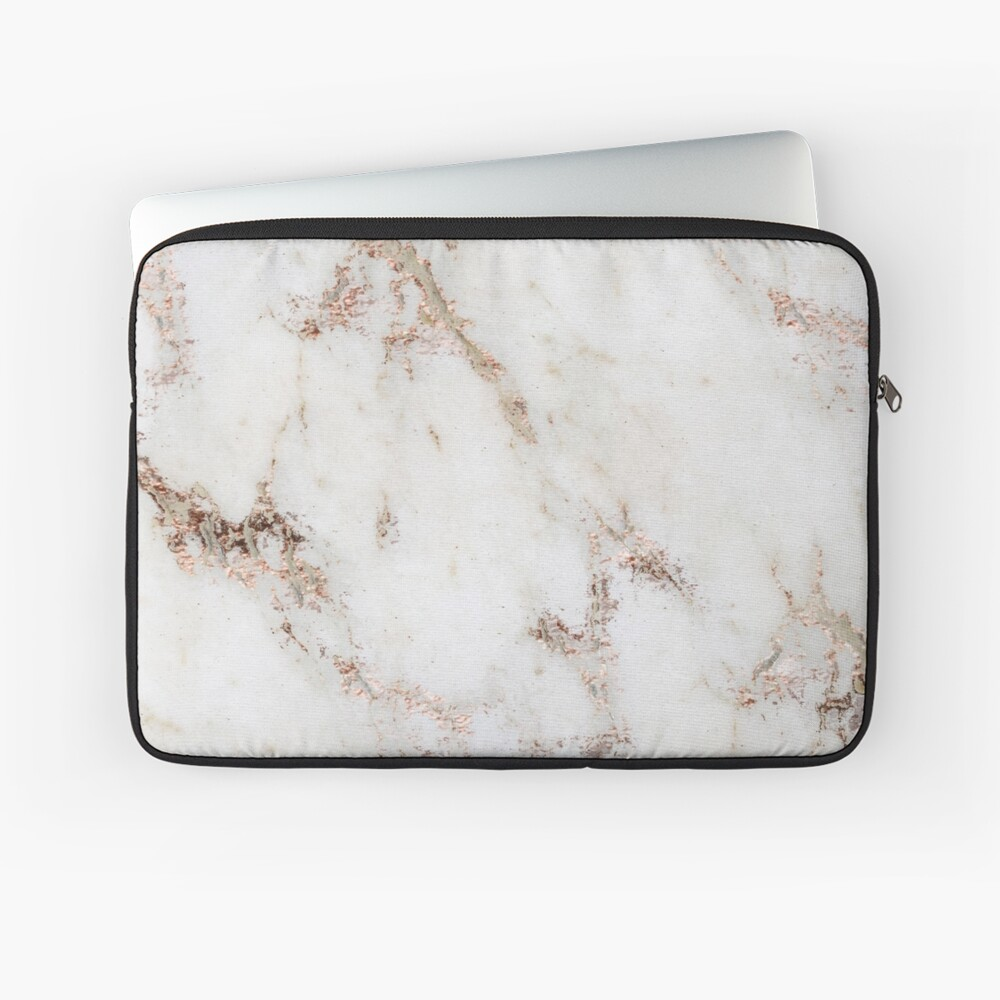 Artico marble - rose gold accents Laptop Sleeve