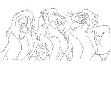 Hand drawn animation Key frames - Lion King by MinetteMona