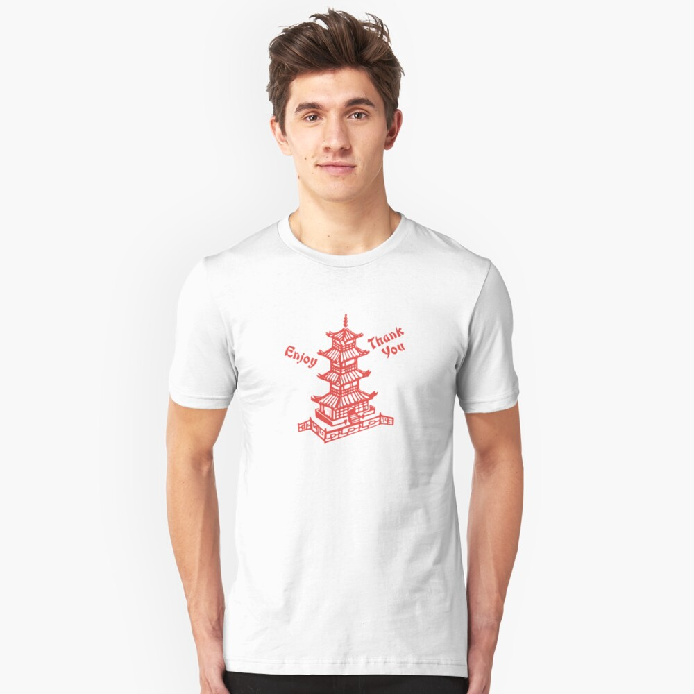 Chinese Food Take Out Unisex T-Shirt Front