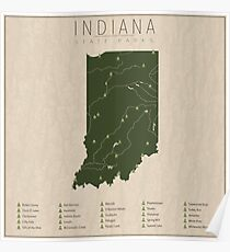 Indiana Parks Poster