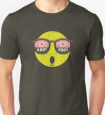 Smiley Face X-Ray Vision Goggles Distress Vintage Design T-Shirt