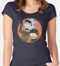 Rick and Morty in CSGO Women's Fitted Scoop T-Shirt
