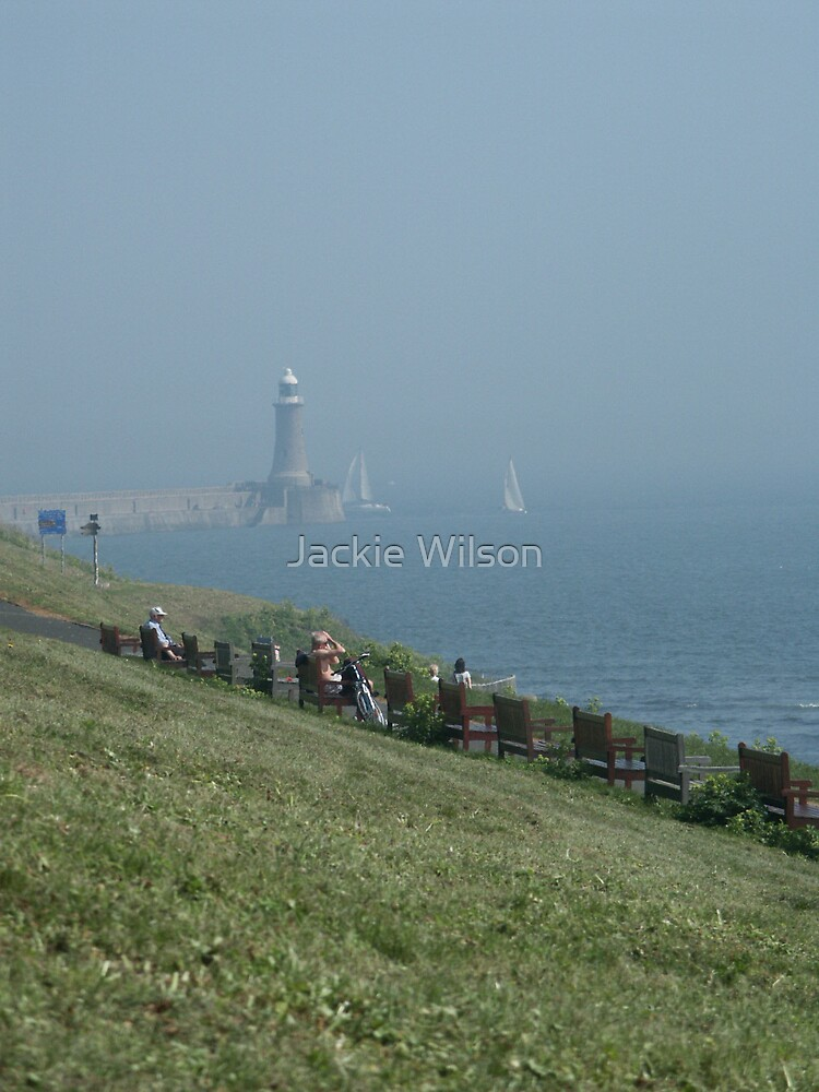 Tynemout at the mouth of the Tyne by Jackie Wilson