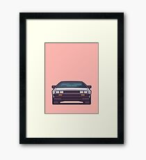 DeLorean DMC-12 - Salmon Framed Print