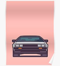 DeLorean DMC-12 - Salmon Poster