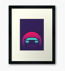 DeLorean DMC-12 - Sunset Framed Print