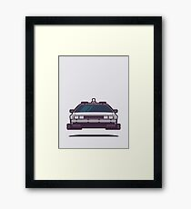 DeLorean DMC-12 Back To The Future Car - Time Machine Grey Framed Print