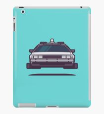 DeLorean DMC-12 Back To The Future Car - Time Machine Aqua iPad Case/Skin
