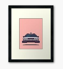 DeLorean DMC-12 Back To The Future Car - Time Machine Salmon Framed Print