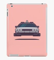 DeLorean DMC-12 Back To The Future Car - Time Machine Salmon iPad Case/Skin