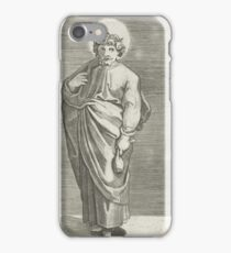 Apostle Matthew with purse, Marco Dente, after Marcantonio Raimondi, Raphael, 1517 - 1527 iPhone Case/Skin
