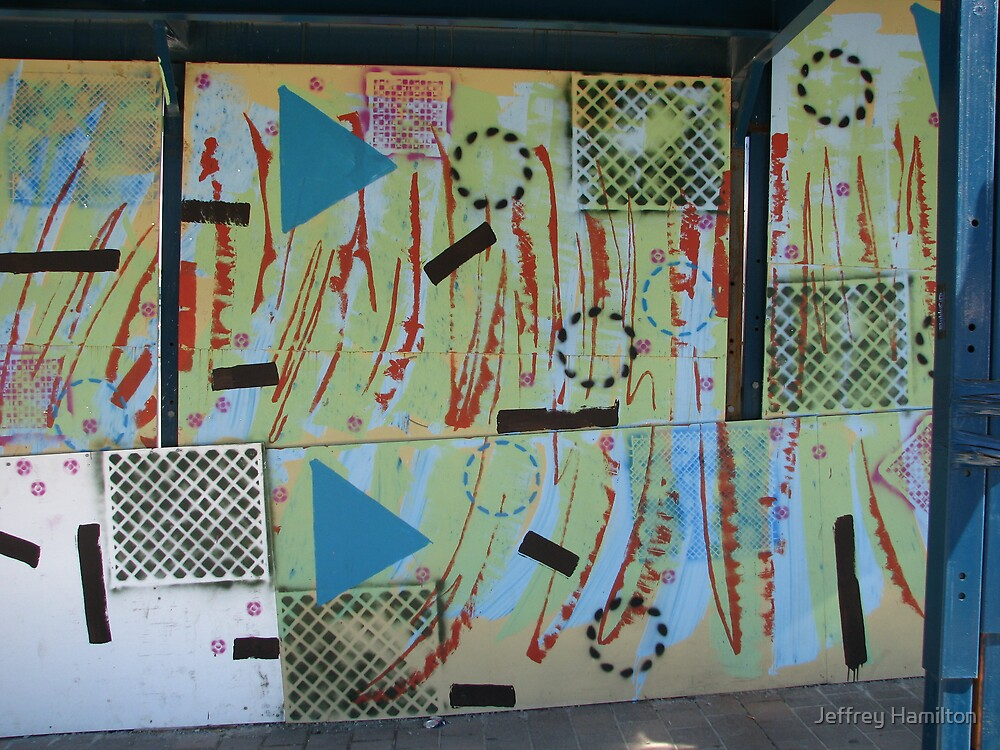 Alfred St hoarding (detail) by Jeffrey Hamilton