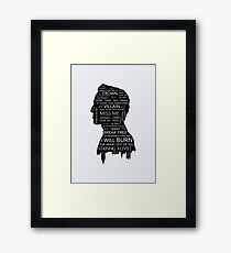Jim Moriarty • Sherlock BBC Framed Print