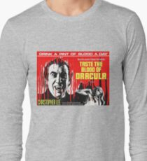 Taste the Blood of Dracula - vintage horror movie poster Long Sleeve T-Shirt