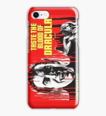 Taste the Blood of Dracula - vintage horror movie poster iPhone Case/Skin