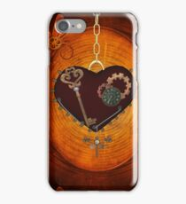 Steampunk, heart with gears iPhone Case/Skin