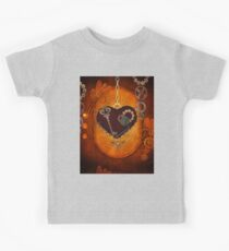 Steampunk, heart with gears Kids Tee