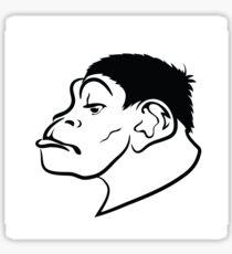 illustration with head of monkey on white background Sticker