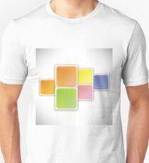 square colored background isolated on white background Unisex T-Shirt