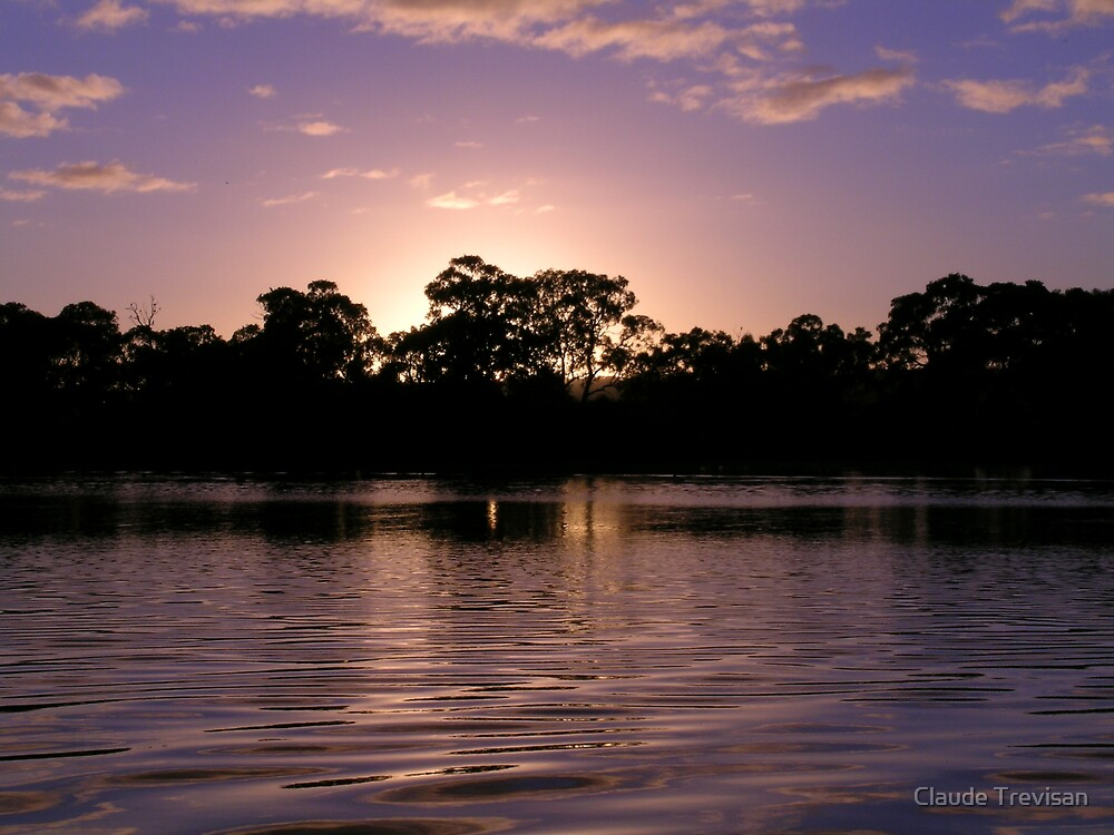 sunrise on the river by Claude Trevisan