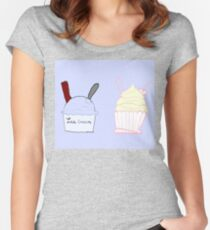 blue ice Women's Fitted Scoop T-Shirt