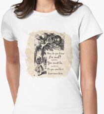 Alice In Wonderland Quote - How Do You Know I'm Mad Women's Fitted T-Shirt