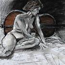 Cello Pose by Damian Kuczynski