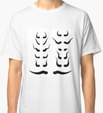 illustration with animal horns silhouettes on white background Classic T-Shirt