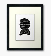 Sherlock Holmes · BBC tv show sherlock  Framed Print