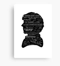 Sherlock Holmes · BBC tv show sherlock  Canvas Print