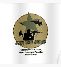 Funny Army Poster