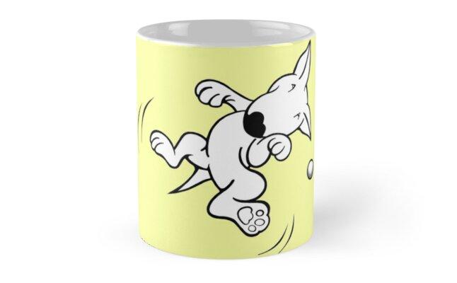 Flying English Bull Terrier  by Sookiesooker