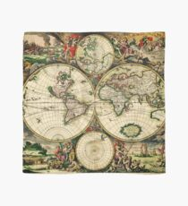 World Map 1689 - Double Hemisphere Scarf