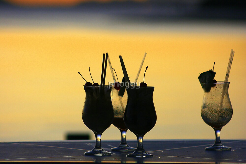 Cocktails at Sunset by phoggy