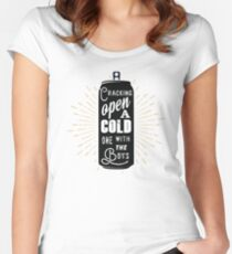 Cracking open a cold one with the boys - gift for beer lovers Women's Fitted Scoop T-Shirt