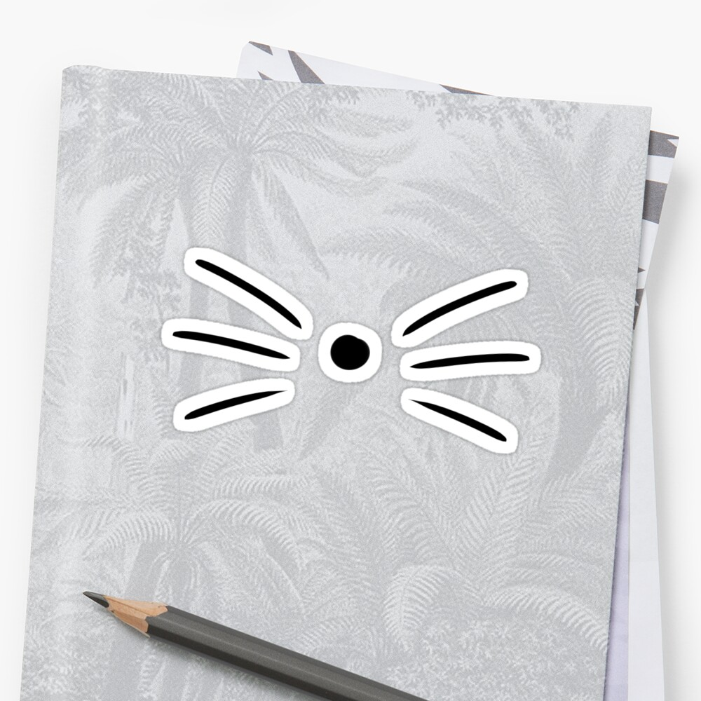 Dan & Phil Cat Whiskers Sticker Front