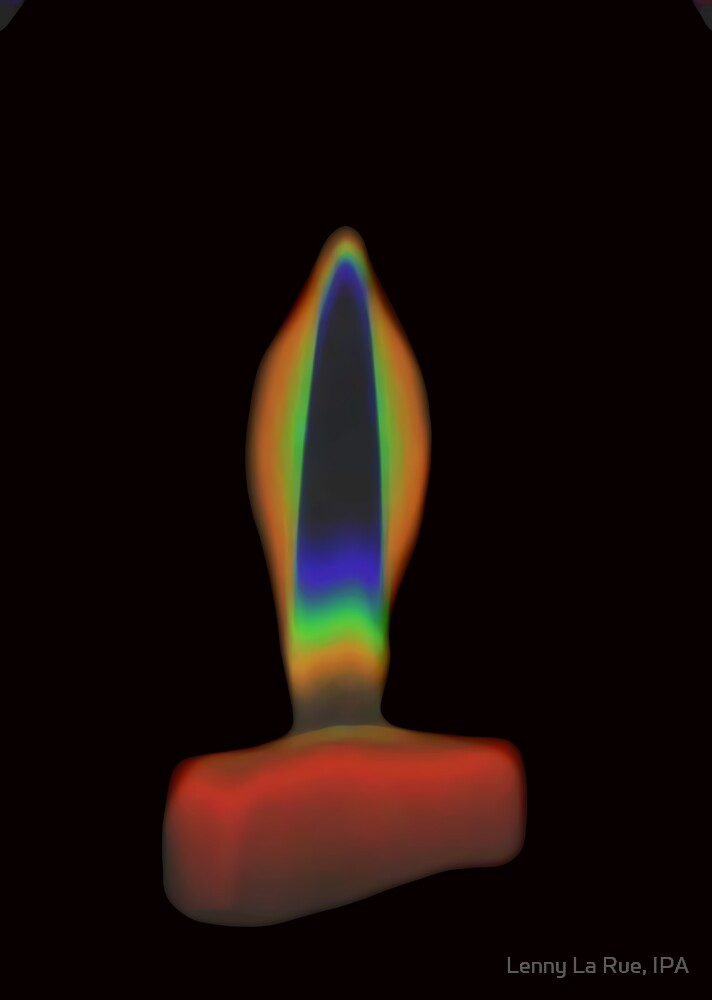 candle 1b (Abstract by heat) by Lenny La Rue, IPA