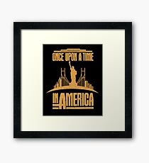 Once Upon a time in America cult movie t shirt Framed Print