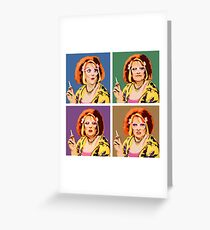 The Auburn Jerry Hall Pop Art Greeting Card