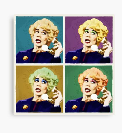 Miss Babs Pop Art Canvas Print
