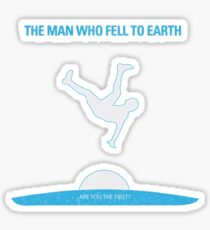 The man who fell to earth cult movie t shirt Sticker