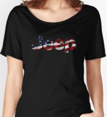 Jeep - USA flag Women's Relaxed Fit T-Shirt