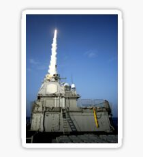 USS Lake Erie launches a Standard Missile 3. Sticker