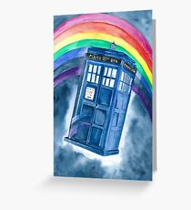 Sci Fi  inspired by The Doctor Greeting Card