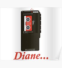 Agent Dale Cooper Tape Recorder Poster