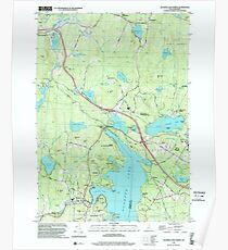 USGS TOPO Map New Hampshire NH Sunapee Lake North 329815 1998 24000 Poster