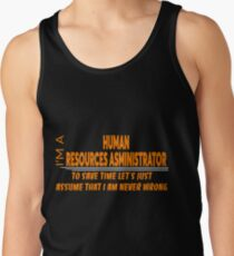 HUMAN RESOURCES ASMINISTRATOR Tank Top