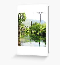 Ninfa landscape Greeting Card